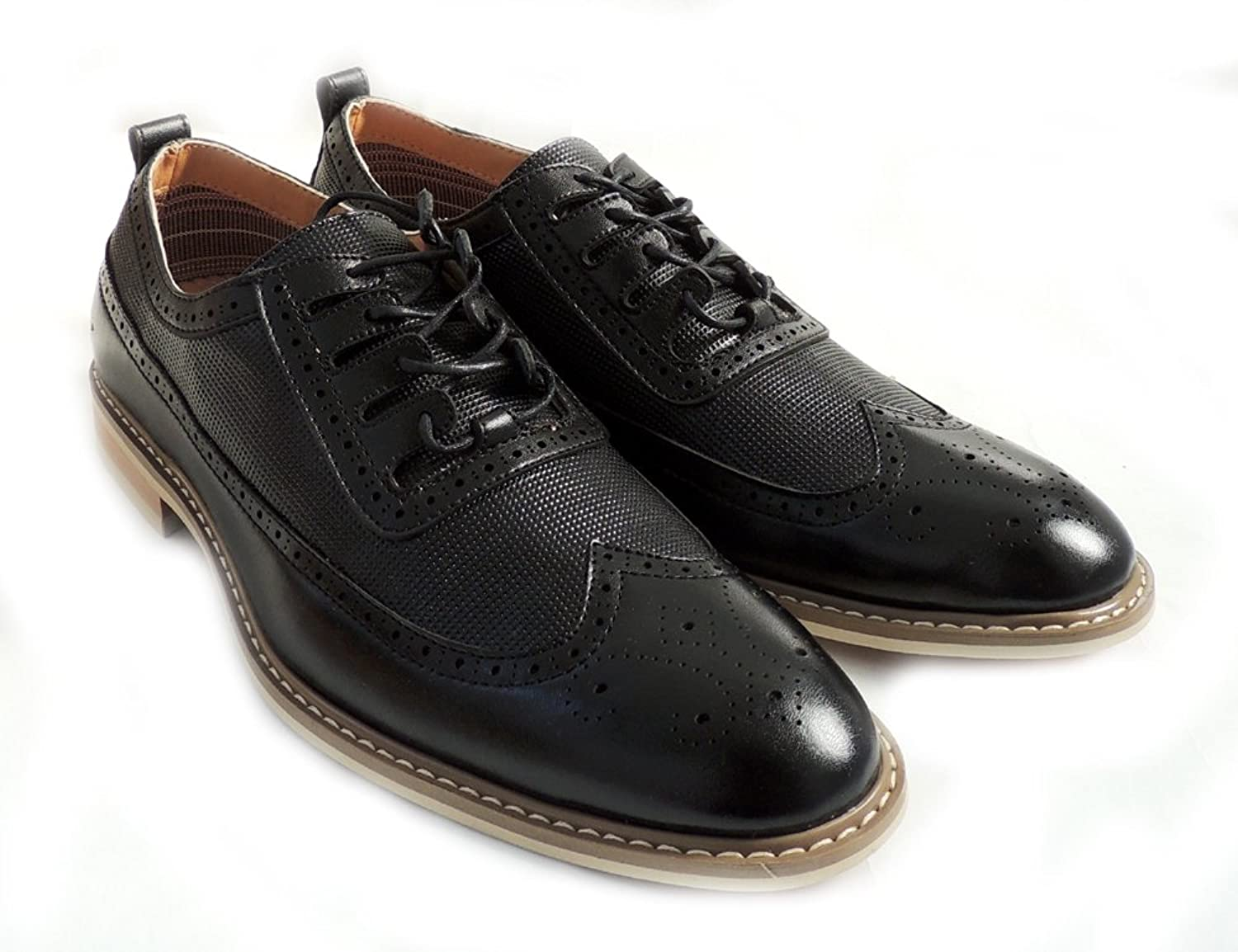 huge selection of 272bf 16d6c NEW FASHIONFERRO ALDO MENS LACE UP OXFORDS WING TIP LEATHER LINED DRESS  SHOES MFA-19278