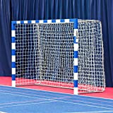Forza Alu80 Competition Handball Goals | IHF Regulation Size 3m x 2m Handball Goal [Net World Sports] (Single, Blue)