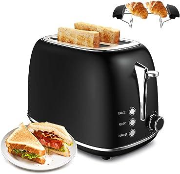 Toaster 4 Scheiben mit Krümelschublade Edelstahl Sandwich Sandwichtoaster 1300W