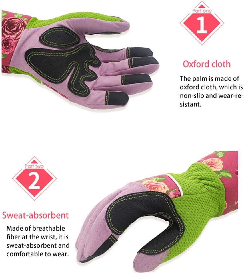guantes de protecci/ón para jard/ín y flores para uso en interiores y exteriores Guantes de jardiner/ía con manga larga a prueba de espina para mujer