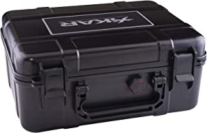 Xikar Cigar Travel Carrying Case, Holds 40 Cigars, Includes Humidifier, Watertight, Crushproof, Model 250Xi, Black