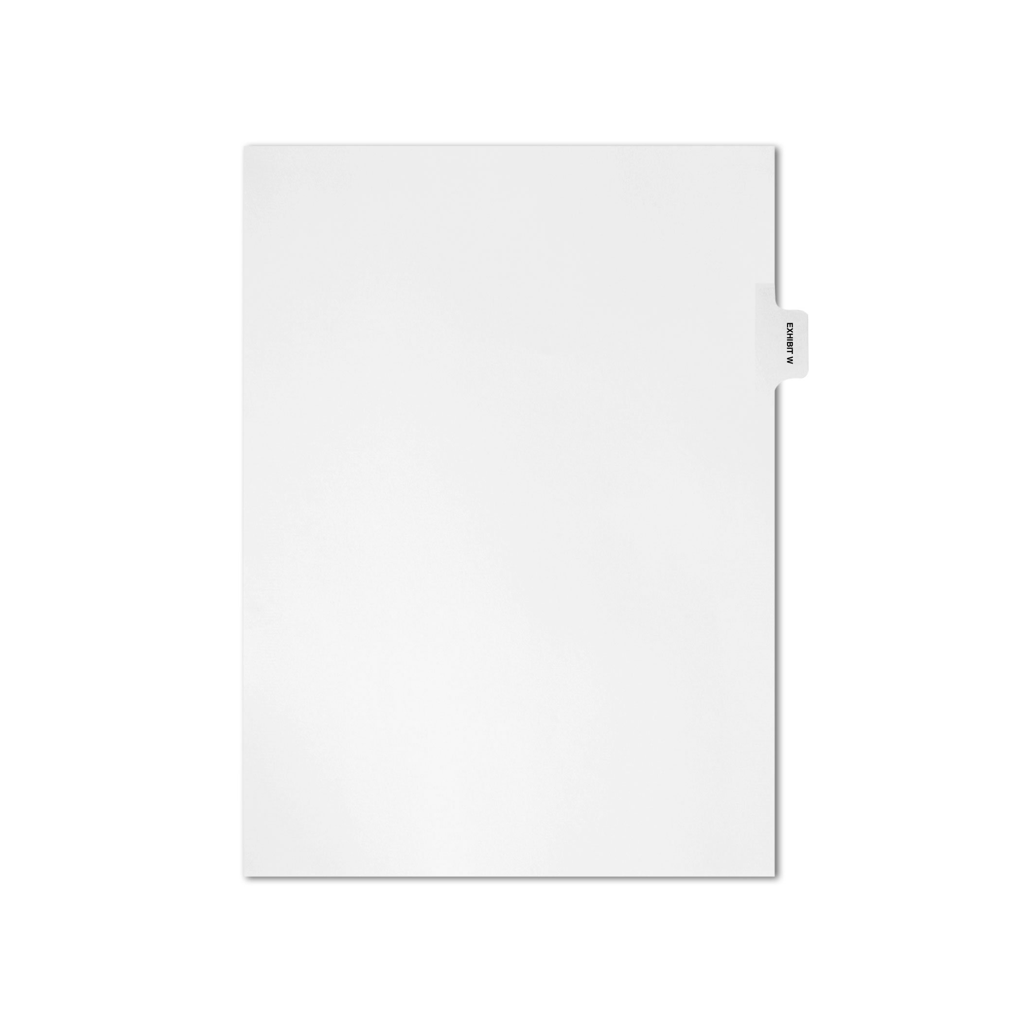 AMZfiling Individual Legal Index Tab Dividers, Compatible with Avery- Exhibit W, Side Tabs, Letter Size, White, Position 3 (25 Sheets/pkg)