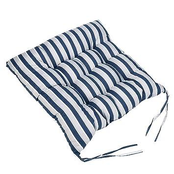 Amazon.com: RGANT - Cojín para silla de rayas con lazos ...