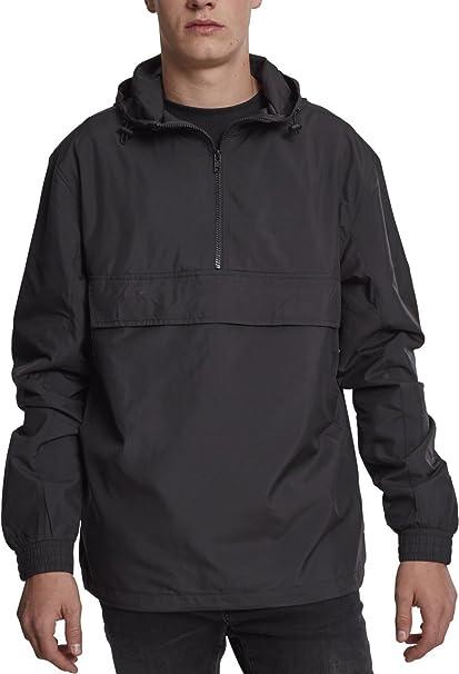 Urban Classics Herren Windbreaker Basic Pull Over Jacket, leichte Streetwear Schlupfjacke, Überziehjacke für Frühjahr und Herbst
