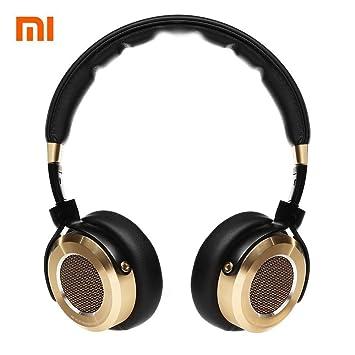 Auriculares Xiaomi Mi HiFi 50 mm auriculares de berilio con membrana estéreo y micrófono, en color negro y dorado: Amazon.es: Electrónica