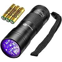 TaoTronics Black Light, 12 LEDs 395nm UV Blacklight Flashlights Detector for Pets Urine…