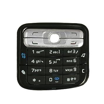 Deal MUX Nueva de plástico para teclado teclado Nokia N73 negro plata tono: Amazon.es: Informática