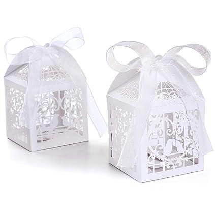Set de 100 cajitas de boda dulces regalos?? bombones y detalles Color Marfil #