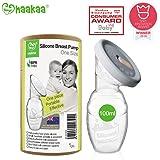 Haakaa Manual Breast Pump Breastfeeding Pump 4oz/100ml+Lid Food Grade Silicone BPA PVC and Phthalate Free