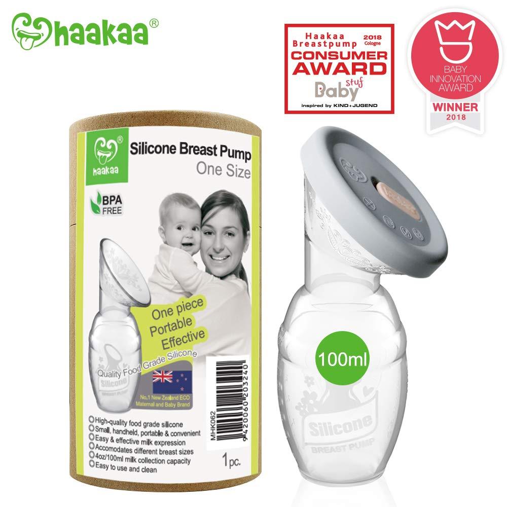 Haakaa Manual Breast Pump Milk Saver 4oz/100ml+Lid by haakaa