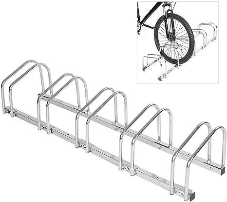 AYNEFY Soporte de Piso para Bicicletas, Premium Steel 5 Racks ...