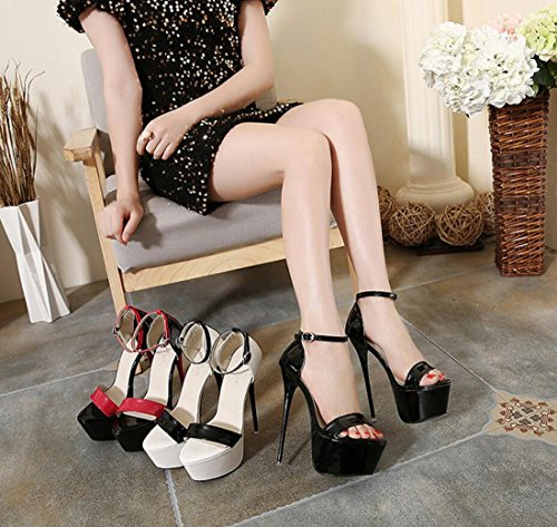 Nero Scarpe DANDANJIE Heel da Color Nightclub Super Sandals High Matching Donna Shoes Platform Hollow Sexy grngHq6Bd