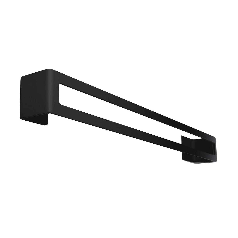 Radius design - PURO Badetuchstange schwarz Kleben