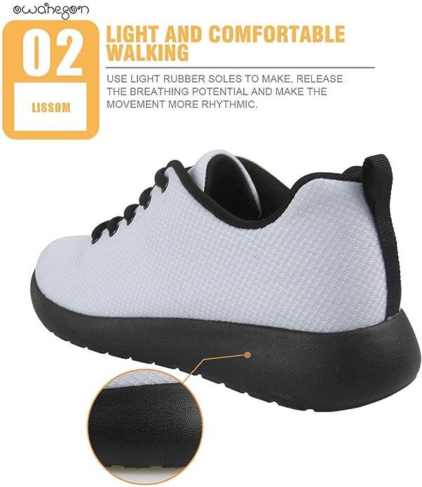 Owaheson Platform Lace up Sneaker Casual Chunky Walking Shoe Low Top Women Peru Flag