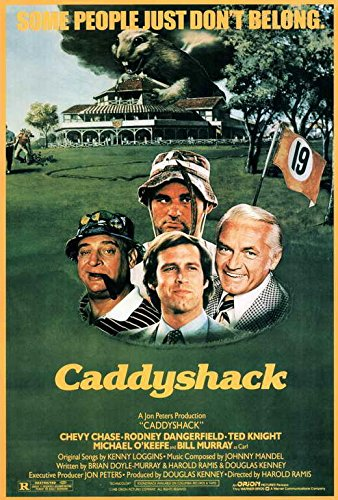 (Caddyshack Movie POSTER 27 x 40 Chevy Chase, Rodney Dangerfield, A, MADE IN THE)