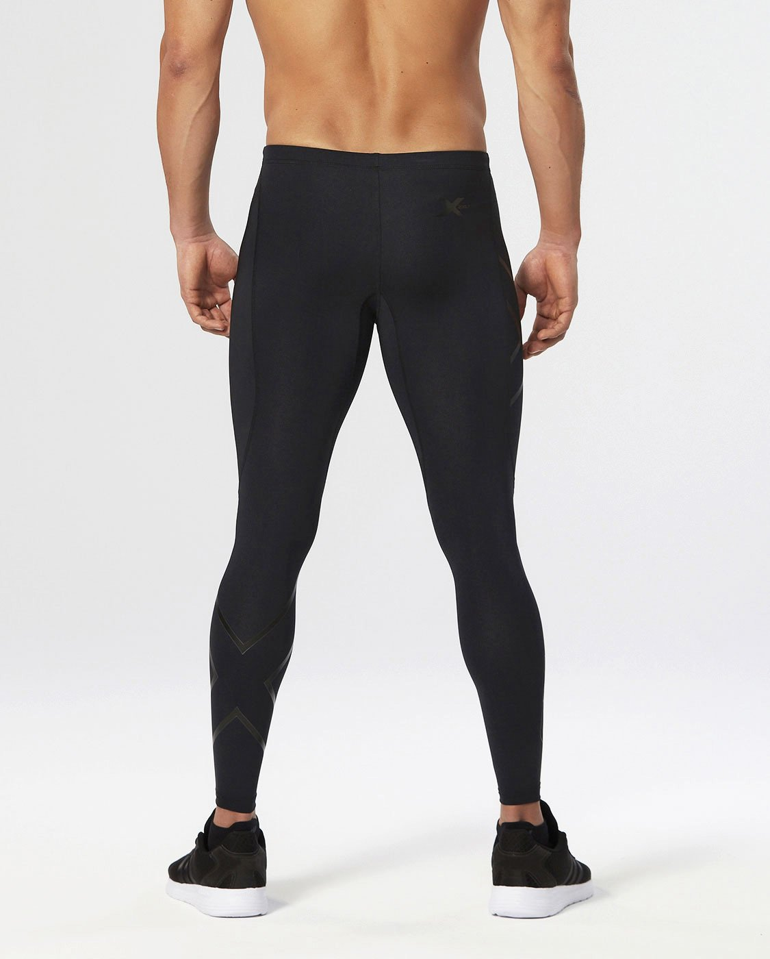 2XU Men's Recovery Compression Tights, Black/Black, Small Tall by 2XU (Image #4)