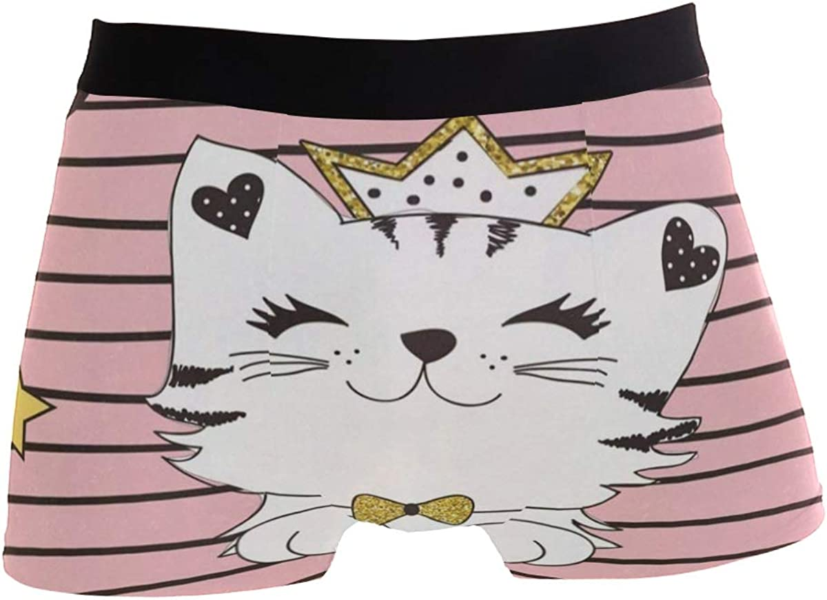Cat Moon Boxer Briefs Mens Underwear Pack Seamless Comfort Soft