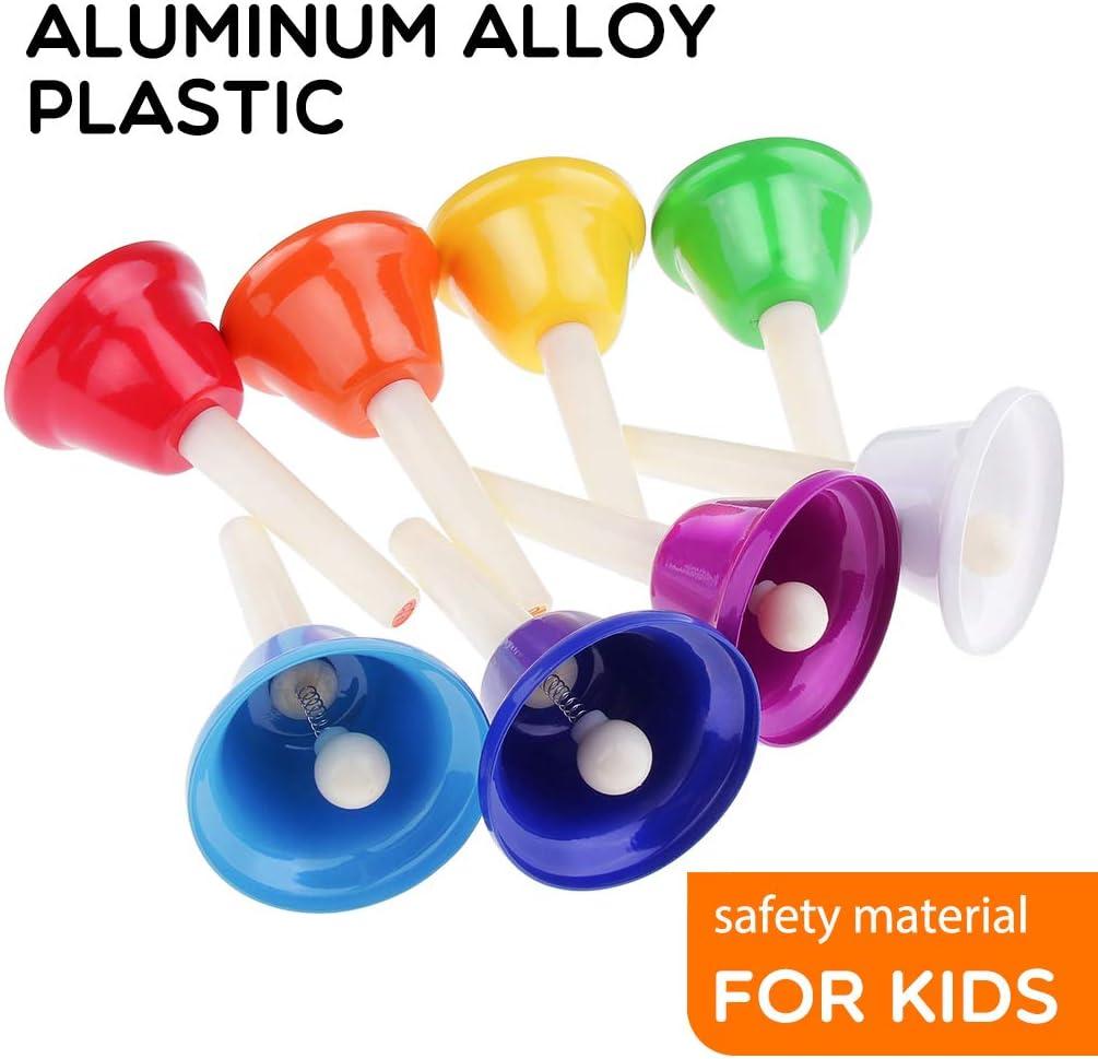 Extrbici Sonnette de v/élo pour enfant en alliage daluminium 5 couleurs