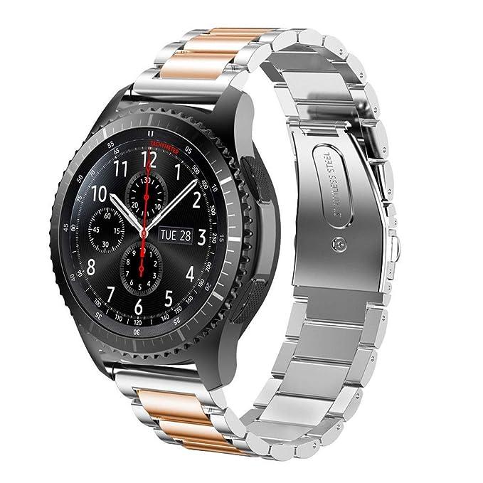 Gear S3 Frontier/Classic Correa de Reloj, 22 mm, Acero ...
