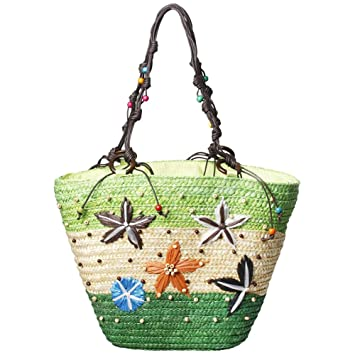98122df273c9 Amazon.com: Women Summer Handbags Straw Tote Beach Bag Woven ...