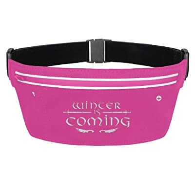 Winter Is Coming Running Belt Funny Waist Pack Zipper Pockets For Running Hiking Cycling Climbing