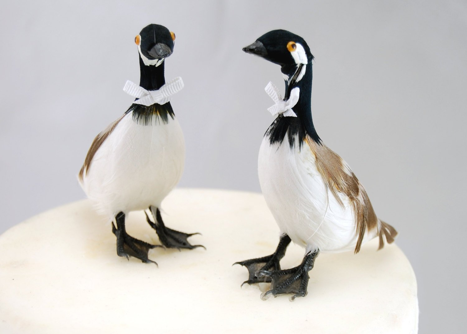 Amazoncom Canada Goose Cake Topper Bride and Groom Love Birds
