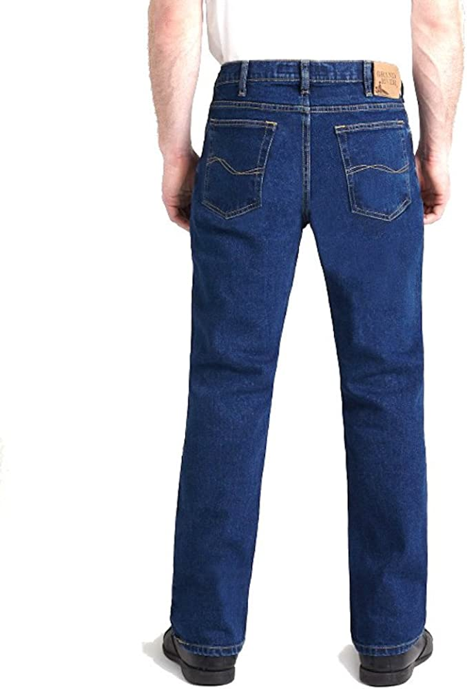 Elliesox Dark Stone Stretch Traditional Straight Cut Jeans by Grand River 180DS 40x38