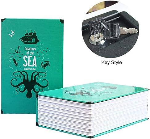 Caja Fuerte Portátil Libro En Forma De Libro,Caja De Almacenamiento De Libros, Caja De Almacenamiento Artesanal: Amazon.es: Hogar