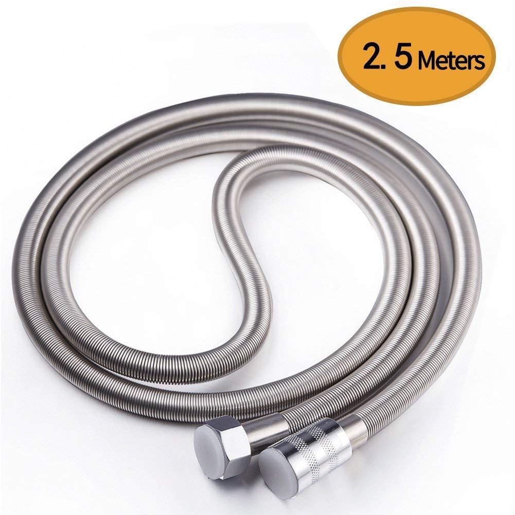 anti-nick STARBATH 2,50 m Tubo flessibile per doccia regolabile in acciaio INOX cromato