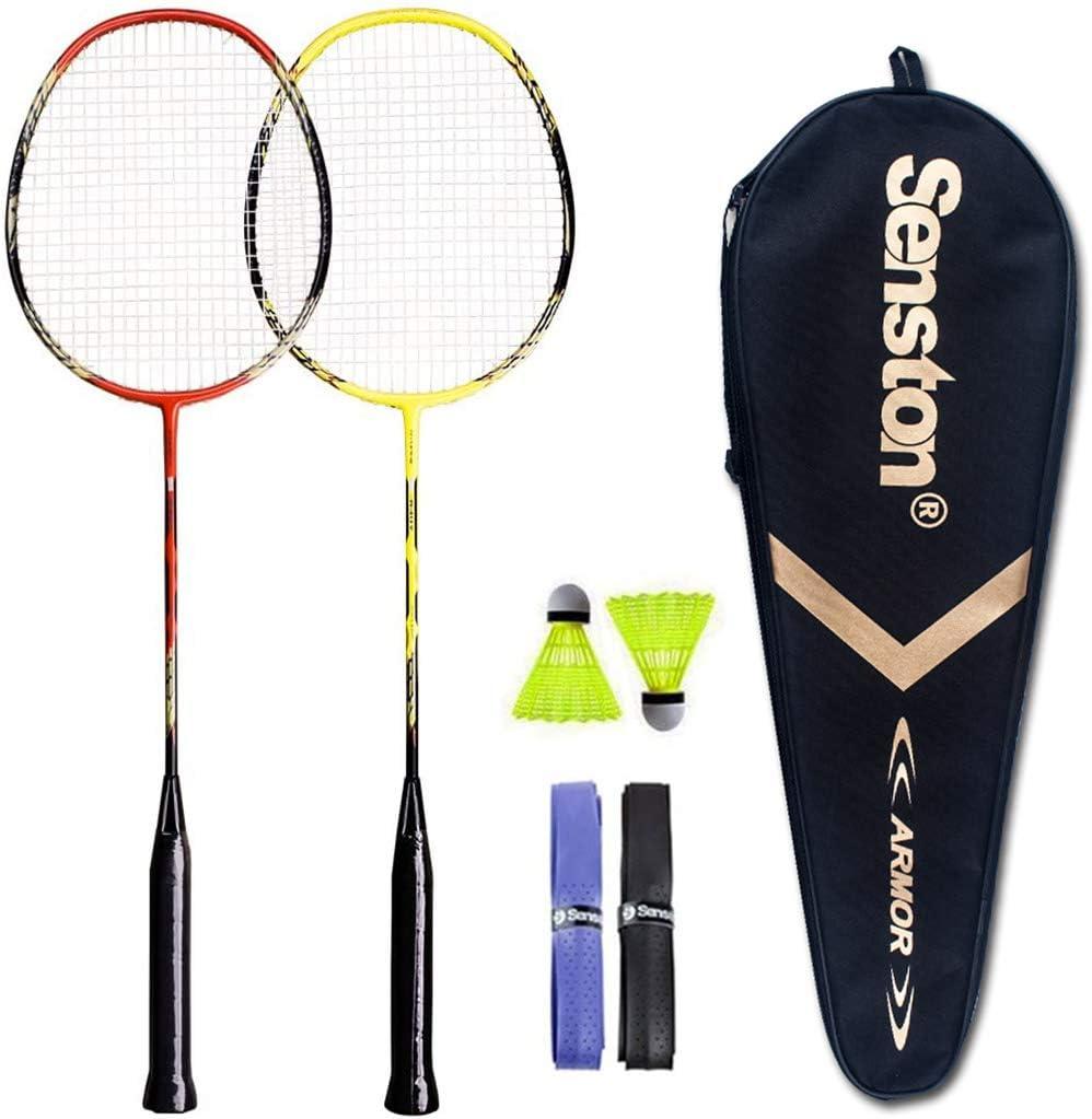 Senston - 2 Player Badminton Racket Set - Including 1 Badminton Bag/2 Rackets/2 Badminton /2 Grip : Sports & Outdoors