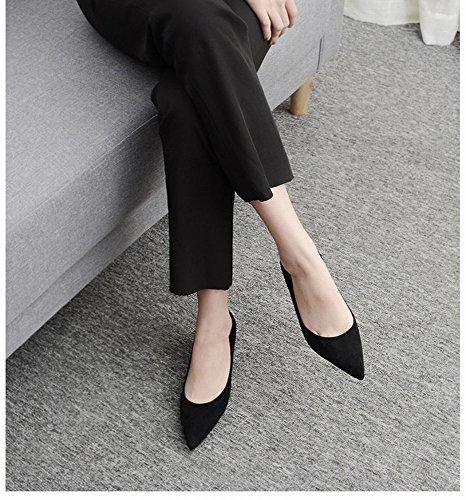 CXY Donna da Tacco a con 37 Tacco Nero con da Tacco Nero Col Femminile Alto Donna Scarpe Spillo Alto Alto Tacco con r7vrS4q