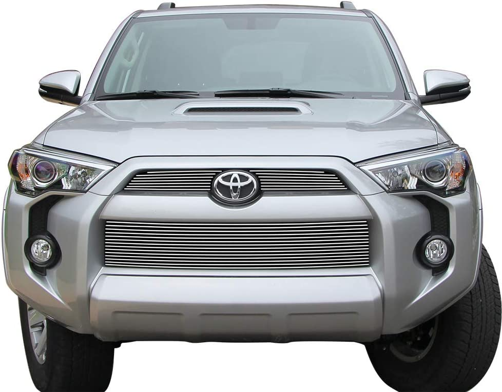 APS Compatible with 2014-2019 4Runner Regular Model Stainless Steel Polished Chrome Horizontal Billet Grille Insert Combo S18-S87216T