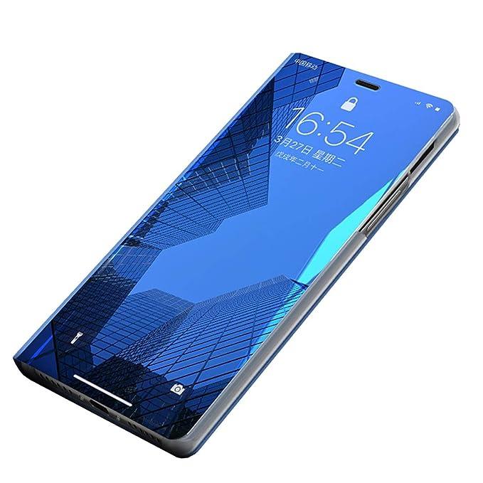 Carcasa Galaxy S7 Edge Funda Case Mirror Funda Flip Tapa Libro Carcasa Funda de Espejo Flip Caso Galaxy S7 tirón del Duro Espejo Soporte Shell Cover ...
