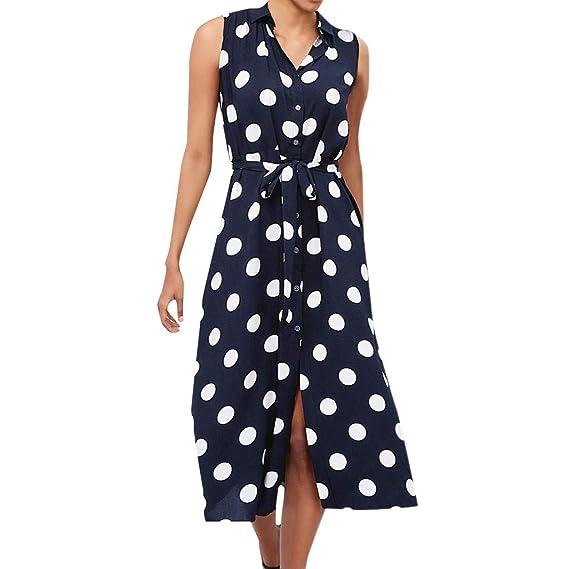 Vestido Mujer De Fiesta Boho de Mujer Polka Dot Impreso Moda