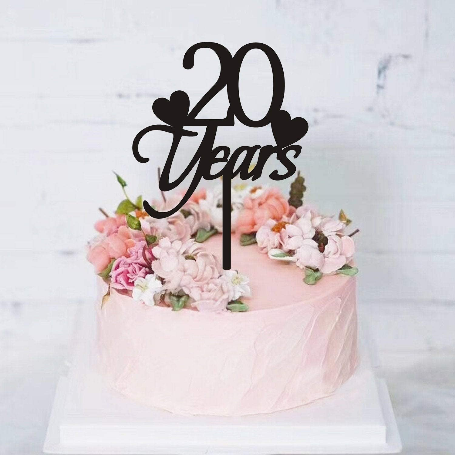 Peachy 20 Years Birthday Cake Topper 20Th Birthday Cake Topper Birthday Personalised Birthday Cards Veneteletsinfo