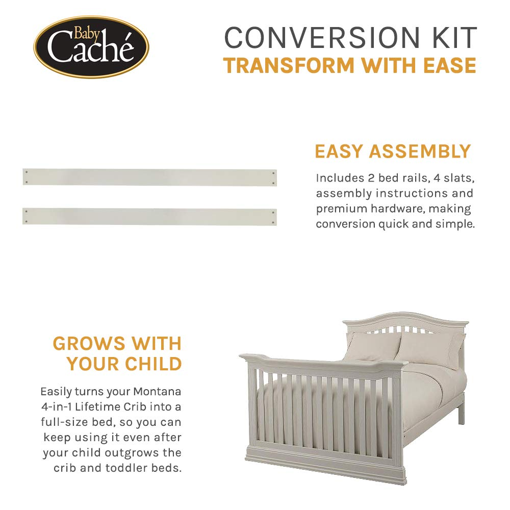 Baby Cache Montana Collection Crib Conversion Kit, Brown Sugar by Baby Cache (Image #2)