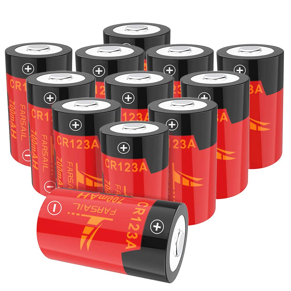 Arlo Rechargeable Batteries, FARSAIL 12-Pack CR123A Lithium Batteries Rechargeable Compatible with Arlo VMC3030 VMK3200 VMS3130 3230C 3430 3530 Cameras Security System by FarSail