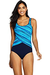 eb54187dba4 Lands  End Women s DDD-Cup Tugless One Piece Swimsuit Soft Cup at ...