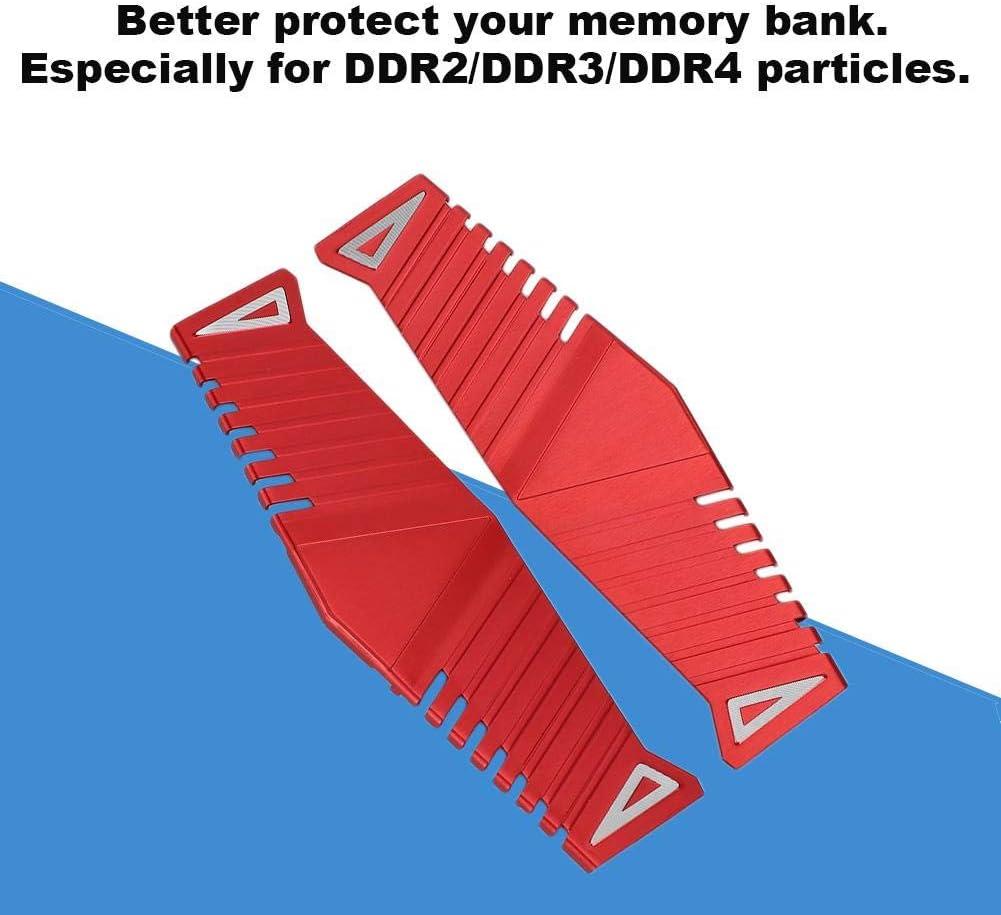 Desktop Memory Bank Aluminum Heat Sink Computer Cooling Vest for DDR//DDR2//DDR3//DDR4 2 Set Memory Cooling Vest Heat Sink