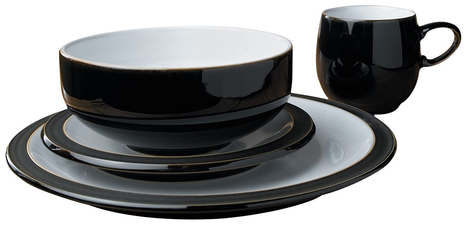 Denby Jet Black Boxed Tableware Set 16-Piece Amazon.co.uk Kitchen u0026 Home  sc 1 st  Amazon UK & Denby Jet Black Boxed Tableware Set 16-Piece: Amazon.co.uk: Kitchen ...