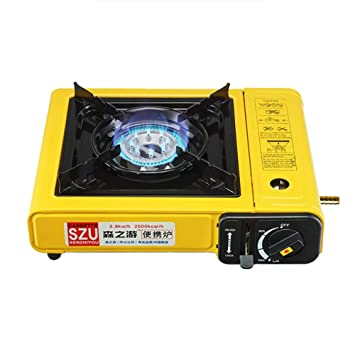 ehind Estufa de Gas para Acampar Estufa de Cassette portátil a Prueba de Viento Estufa de