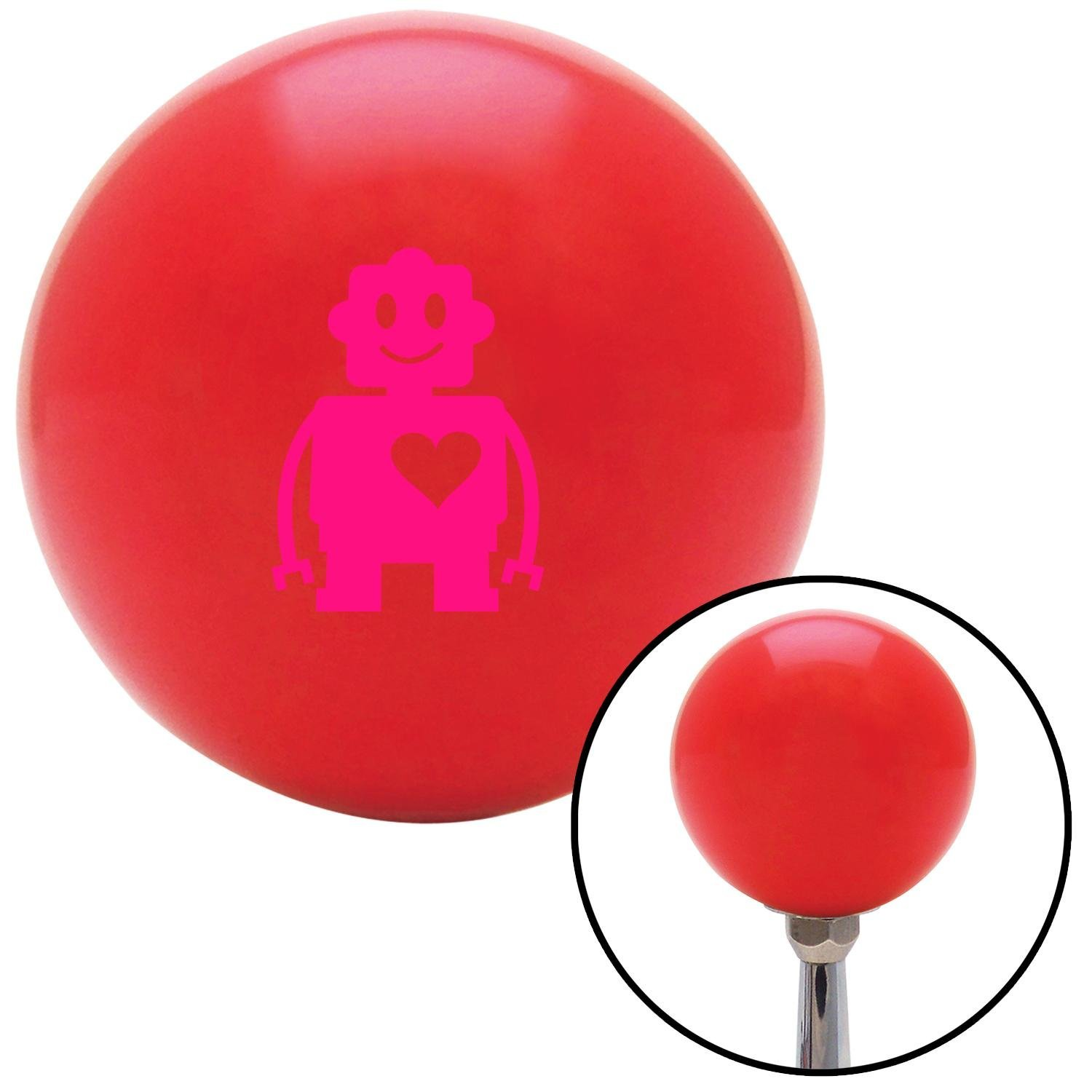 American Shifter 99228 Red Shift Knob with M16 x 1.5 Insert Pink Robot Love