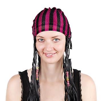 Desconocido Peluca Pelucas para Mujeres Moda Pelo Largo Festival Negro Scorpion Halloween Pelucas realistas Europeas y