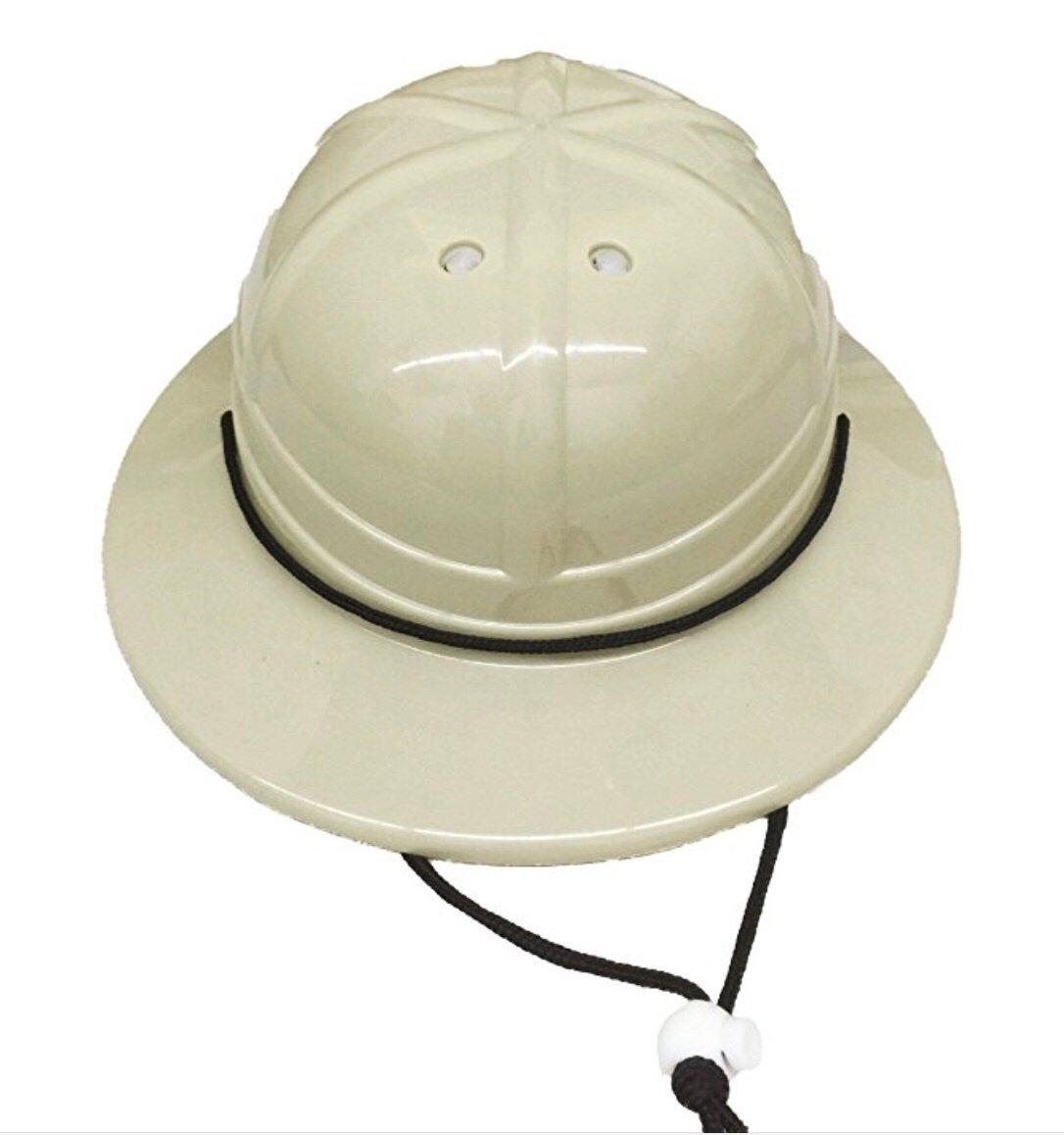 b21b7c05fdaba Amazon.com  GiftExpress Kids  Hard Plastic Safari Pith Helmet (Gray Tan)   Toys   Games