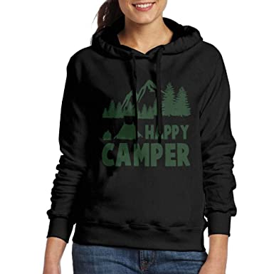 Green Pullover Long Hoodie Cute Camper Hoody Casual Sleeve For Happy dstQChr