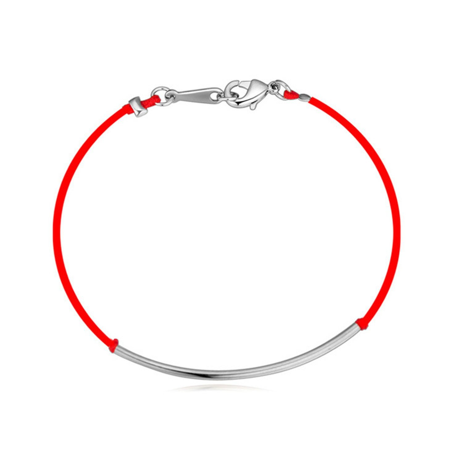 Flower-Bud born red rope braided bracelet high-end gold plated fine jewelry past and present Korean jewelry,Rose Gold by Flower-Bud (Image #6)