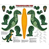 Tyrannosaurus Rex Pillow or Stuffed Animal Shaped Fabric Panel (Great for Sewing, Craft Projects, Pillows, Appliques and More) 16'' Tall Dinosaur