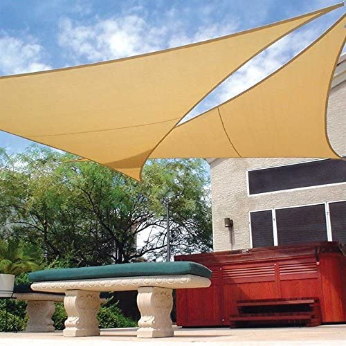 Kit de sombreo con mastil Malla triangular Coolaroo 3, 6 x 3, 6 x 3, 6 M: Amazon.es: Jardín