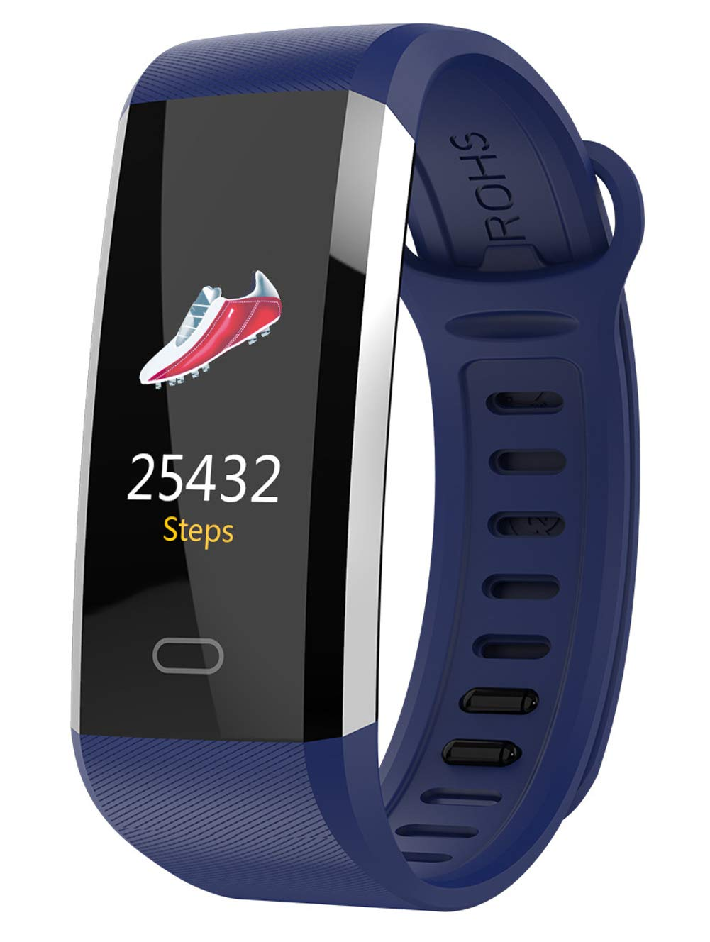 YANGYA Smart Watch, 0.96 Step Calorie Counter Fitness Wristband, Ip67 Waterproof Compatible with Android iOS Phone-Blue by YANGYA