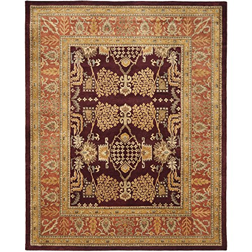 Safavieh Bergama Collection BRG190C Handmade Red and Rust Premium Wool Area Rug (8' x 10') (10' Collection Bergama)